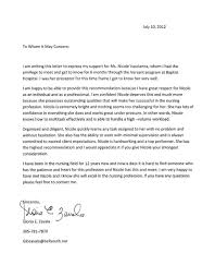 Letter Of Recommendation For Nursing School Writing A Letter Of Recommendation For Nursing School Rome