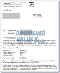 appraisal letter state farm 17c offer letter diminished value car appraisal