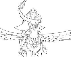 sheracoloringpages  SheRa on Swiftwind  Things I love