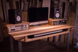 custom made studio desk for audio ion w keyboard workstation shelf and rack