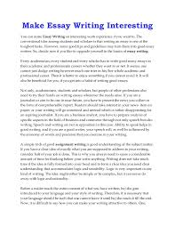make essay writing interesting