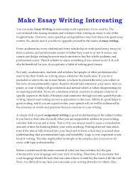 make essay writing interesting