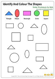 Shapes Worksheets For Kindergarten Maths Grade 2 Coloring Color By ...
