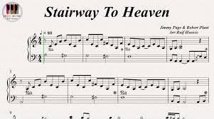 heaven piano sheet music stairway to heaven led zeppelin piano youtube