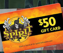 Halloween Gift Cards Win 50 Spirit Halloween Gift Cards Free Sweepstakes