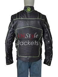 x men black green leather jacket