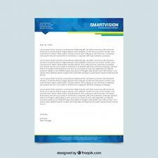 Elegant Blue Letterhead Template Vector Free Download