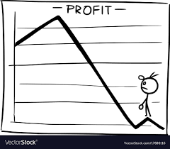 Cartoon Of Profit Graph With Small Man Looking Up Vector Image On Vectorstock