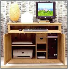 small office computer desk. Hideaway Office Workstation Computer Desks For Home Small Hidden Desk Space Saving Your White