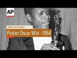 Image result for 1964 Sidney Poitier got Oscar for Lilies of the Field.