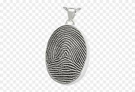 silver oval full coverage fingerprint jewelry with fingerprint oval sterling silver cremation pendant