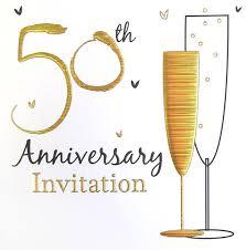 50th Anniversary Party Invitations 50th Anniversary Party Invitations With Envelopes 6pk