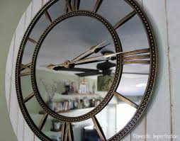 large rustic wall clock with glam domestic imperfection idea 17