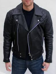 Mens Black Brando Jacket, Men's Quilted Leather Jacket on Luulla & Mens black brando jacket, men's quilted leather jacket Adamdwight.com