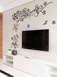 wall stickers erfly pattern living room tv background wall decor