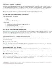 Resume Templates In Microsoft Word 2010 Example Of Resume In Word