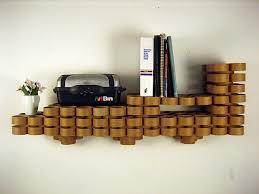cardboard tube furniture. View In Gallery Cardboard Tube Wall Shelves Furniture