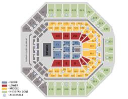 Nfr Seating Chart With Rows Seating Charts Att Center