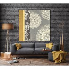 contemporary lace i yellow grey