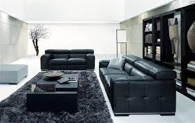 amazing new nicolas living room design with black sofa black coffee table grey sofa and black book storageand dark rug image