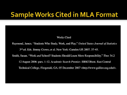 Ppt Sample Works Cited In Mla Format Powerpoint Presentation Id