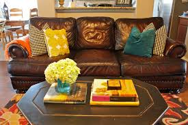 Mustard Living Room Wonderful Picture Of At Design Gallery Brown Leather Couches With