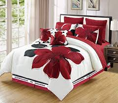 red and white bedding. Wonderful Red 12  Piece Burgundy Red Black White Floral Bedinabag  And Bedding N
