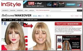 instyle is another excellent virtual hairstyles that lets you get hollywood makeover right from celebrity hairstyle to eye makeup to the skin