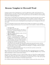 Resume Wizard In Word 2007 Resume For Your Job Application