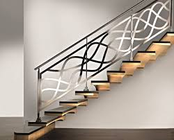 Wrought Iron Modern Stair Railings Ms