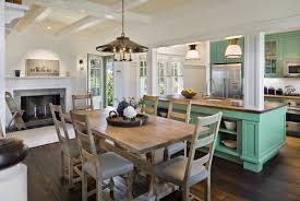 white and mint green nantucket kitchen