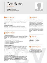 Sample Resume Templates Free Printable Profesional Resume Template