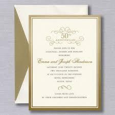 Gold Foil Border Anniversary Party Invitation