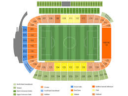 Chargers Stadium Seating Map Stubhub Center Chargers Seating