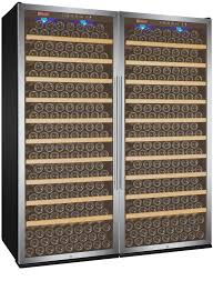 vite series 610 bottle single zone wine refrigerator side by side with stainless steel doors