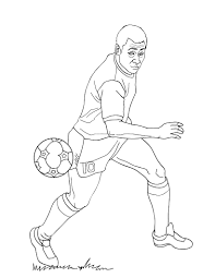 player coloring pages