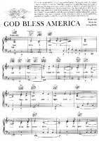 God Bless America Chord Chart Irving Berlin God Bless America Free Downloadable Sheet