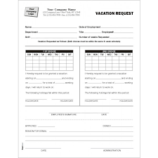 Holiday Request Form Classy HR Forms Standard Forms