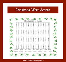 Christmas Word Search {Printable} - Life With Lovebugs