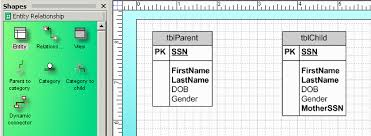 creating er diagrams with ms visioclick the relationship connector in the template