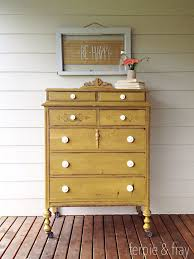 painting furniture ideas color. dresser painted by ferpie and fray in mustard old fashioned milk paint co painting furniture ideas color e