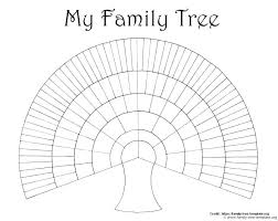 excel family tree e diagram printable chart free word simple template 7 generations