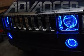 watch more like blue hummer h3 led headlights 2007 2008 hummer h2 oracle ccfl halo kit headlight halos white blue