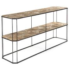 sofa console table. Kieran Reclaimed Wood Parquet Industrial Iron 2 Tier Sofa Console Table | Kathy Kuo Home