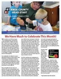 family newsletter school family newsletter knox county head start
