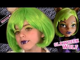 clawdeen wolf dawn of the dance monster high doll costume makeup tutorial for
