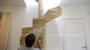 this cnced spiral staircase was made using the x carve by inventables com and