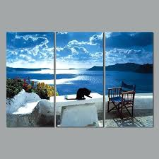 seaside wall art art still life landscape sea living room decoration blue seaside canvas painting wall