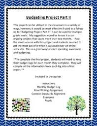 Budgeting Project Part Ii Personal Finance