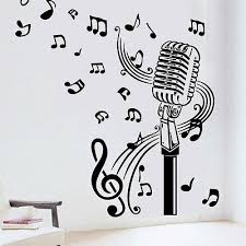 music notes in words microphone mic music musical notes art words wall sticker